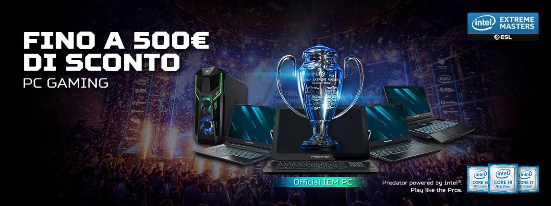 Fino a 500€ di sconto sui PC e Monitor Gaming Acer