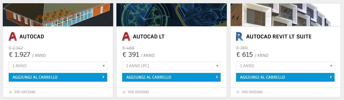 Fino al 20% di sconto su AutoCAD, AutoCAD LT e Revit LT Suite