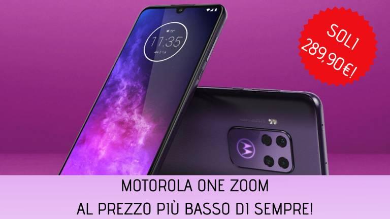 Motorola One Zoom al prezzo più basso di sempre su Amazon!