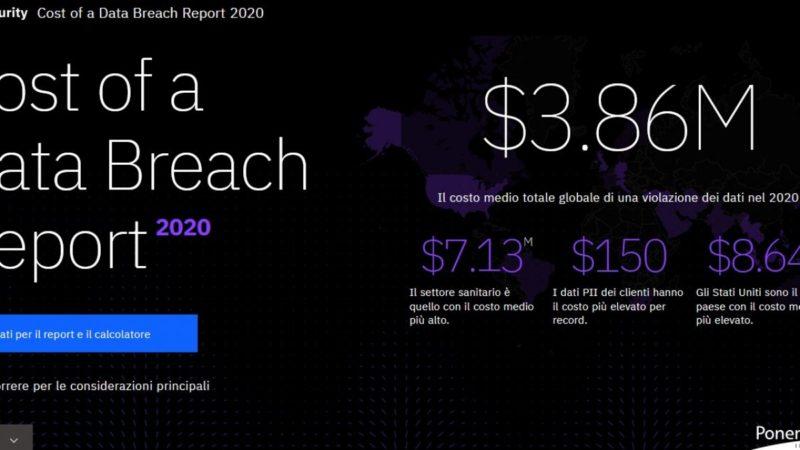 Il rapporto: ogni dato personale rubato in Italia costa in media 125 euro