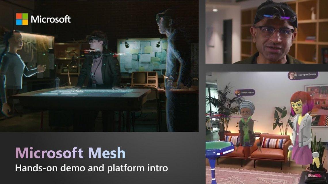 Microsoft svela Mesh: le riunioni si faranno con gli ologrammi