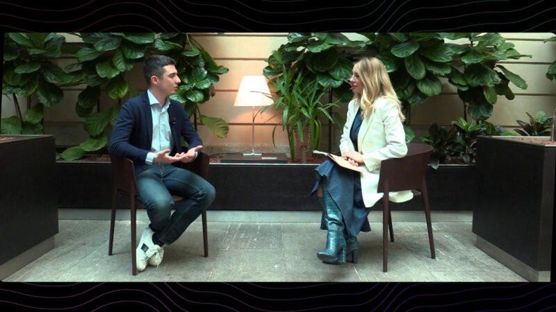 Mia Ceran con Giorgio Morelli di WeStudents, l'app italiana (nata da un fallimento) che sfida Facebook e Instagram